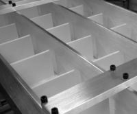 Split Cleats with High Lane Dividers on Mini-Mover Conveyor