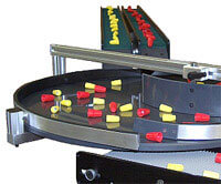 Small Mini-Mover Lite Series conveyors and RTA accumulator table for diverting product