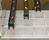 Multi-lane Mini-Mover Lite Series conveyor used to divert and separate products
