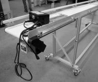 Portable LP Series Mini-Mover Conveyor on Stand with Casters