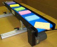 Tabletop Lite Series Mini-Mover Conveyor with Blue Belting