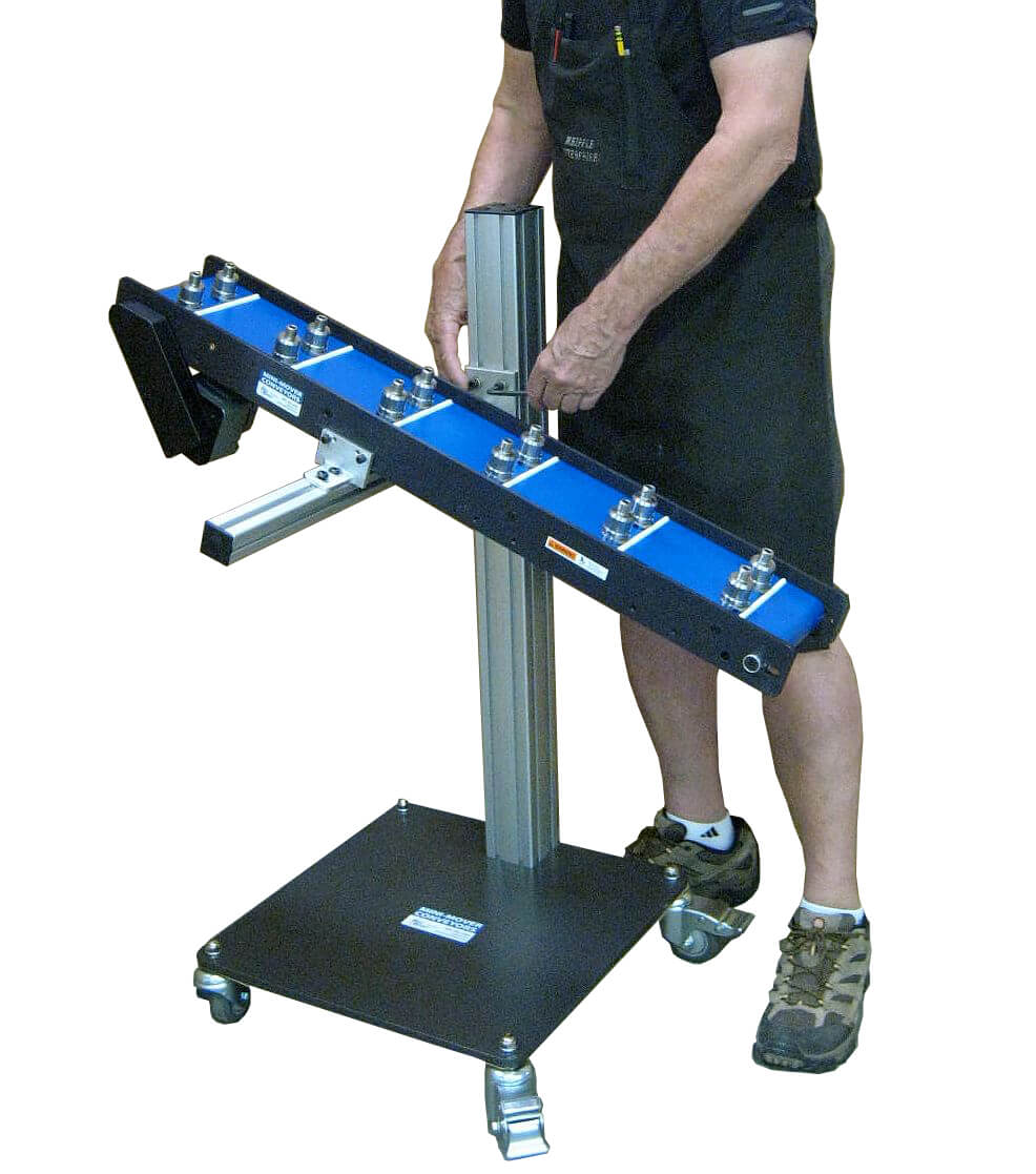 Adjustable and Portable Steel Base Stand with Mini-Mover Lite Series Conveyor